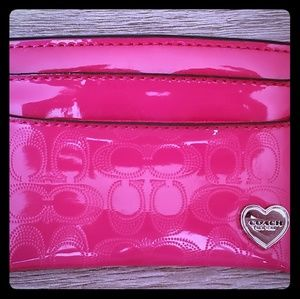 Coach Bags - Hot pink Coach card holder